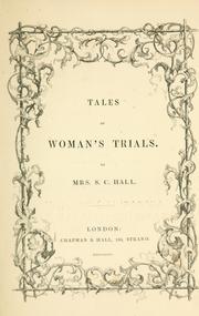 Tales of woman's trials PDF