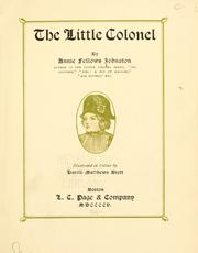 The little colonel by Annie F. Johnston