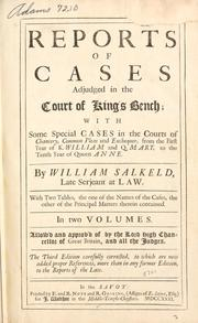 Reports of cases adjudged in the Court of King's Bench PDF