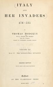 Italy and her invaders by Hodgkin, Thomas