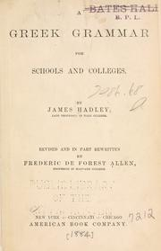 A Greek grammar by James Hadley
