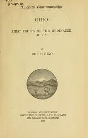 Ohio, first fruits of the Ordinance of 1787 PDF