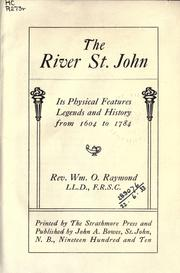 The river St. John by W. O. Raymond