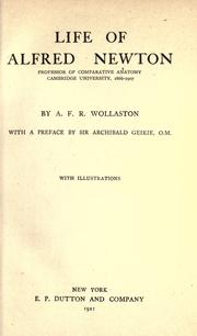 Cover of: Life of Alfred Newton by A. F. R. Wollaston