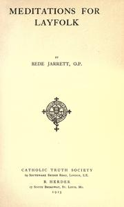 Meditations for layfolk by Bede Jarrett