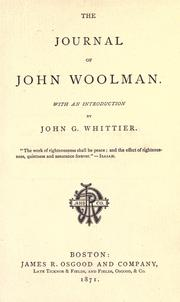 Cover of: The journal of John Woolman by John Woolman