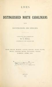 Cover of: Lives of distinguished North Carolinians by W. J. Peele
