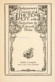 Cover of: Shakespeare's comedy of The tempest by William Shakespeare