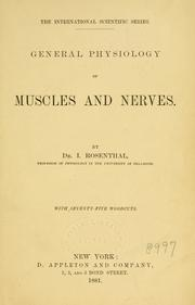 General physiology of muscles and nerves