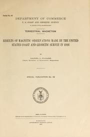 Cover of: Terrestrial magnetism by U.S. Coast and Geodetic Survey.