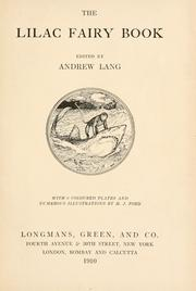 Cover of: The lilac fairy book by Andrew Lang