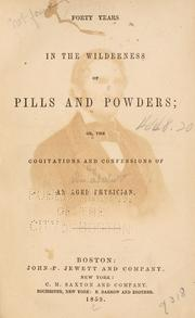Forty years in the wilderness of pills and powders PDF