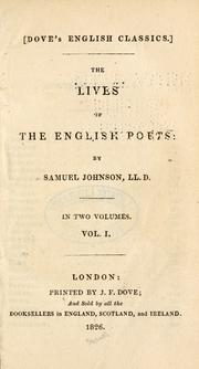 Cover of: Lives of the poets by Samuel Johnson
