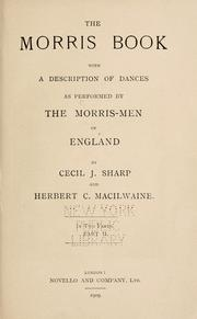 The Morris book by Cecil James Sharp, Cecil J. Sharp