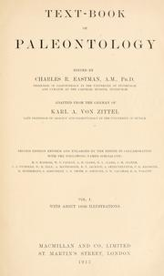 Text-book of paleontology by Karl Alfred von Zittel