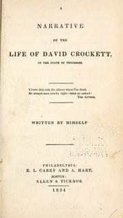 A narrative of the life of David Crockett .. by Davy Crockett