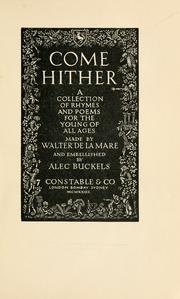 Come hither by De la Mare, Walter