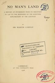 No Man's Land by Conway, William Martin Sir