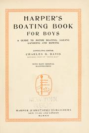 Harpers boating book for boys