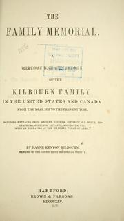 The family memorial by Payne Kenyon Kilbourne