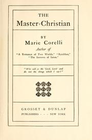 The master-Christian by Marie Corelli