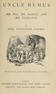 Cover of: Uncle Remus by Joel Chandler Harris