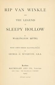 Cover of: Rip Van Winkle ; and, The legend of Sleepy Hollow by Washington Irving