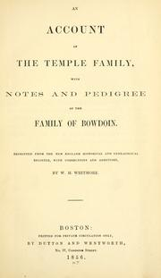 account of the Temple family