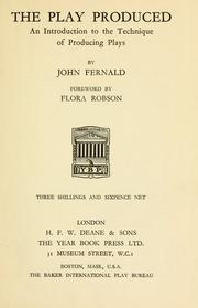 The play produced by John Fernald