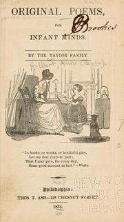 Original poems, for infant minds by Taylor, Jane