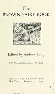 The Brown Fairy Book PDF