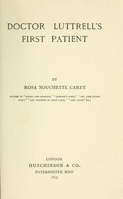 Doctor Luttrell's first patient PDF