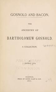 Gosnold and Bacon by J. Henry Lea
