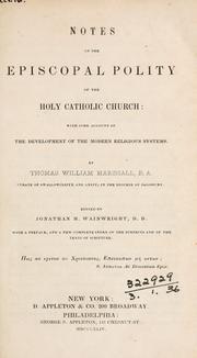 Notes on the episcopal polity of the Holy Catholic Church PDF
