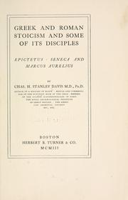 Greek and Roman stoicism and some of its disciples by Charles Henry Stanley Davis