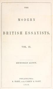 Miscellaneous essays by Alison, Archibald Sir