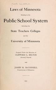 Laws of Minnesota relating to the public school system by Minnesota.