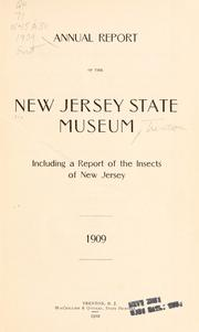Annual report of the New Jersey State Museum by New Jersey State Museum.