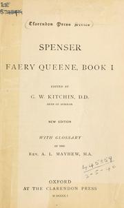 Cover of: Faery queene, book 1 by Edmund Spenser