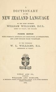 A dictionary of the New Zealand language by Williams, William