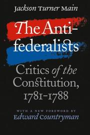 The antifederalists by Jackson Turner Main