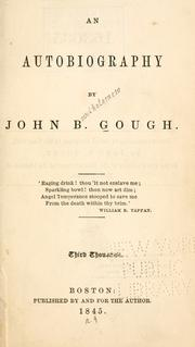 Cover of: An autobiography by John B. Gough