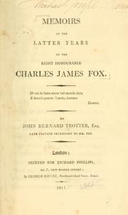 Memoirs of the latter years of the Right Honourable Charles James Fox PDF