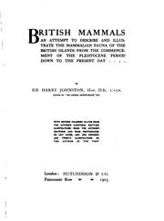 British mammals by Harry Hamilton Johnston