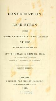 Conversations of Lord Byron by Thomas Medwin