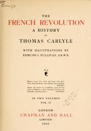 Cover of: The  French Revolution by Thomas Carlyle