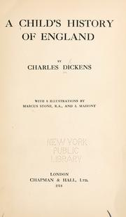 Cover of: A child's history of England by Charles Dickens