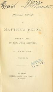 Poetical works by Matthew Prior