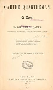Cover of: Carter Quarterman by William M. Baker