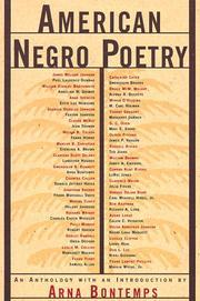 American Negro Poetry PDF